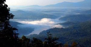 Grey Rock at Lake Lure in the Blue Mountains of North Carolina