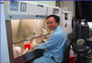 Dr. Steven Wong working with live cancer cells