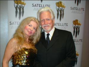 Adrienne Papp and Life Time Achievement Award winner, Bruce Davison