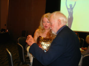 Adrienne Papp and Award winning director, Robert M. Young, 2016, IPA Awards